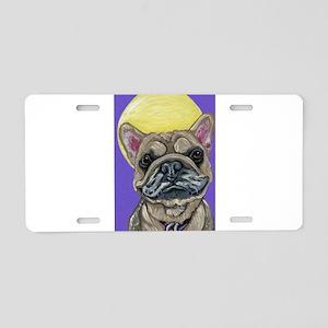 French Bulldog Smile Aluminum License Plate