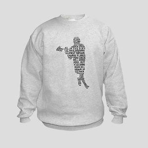 Lacrosse Terminology Kids Sweatshirt