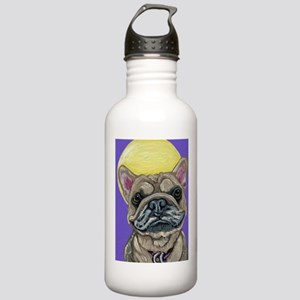 French Bulldog Smile Water Bottle