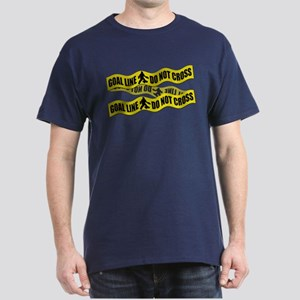Field Hockey Crime Tape Dark T-Shirt