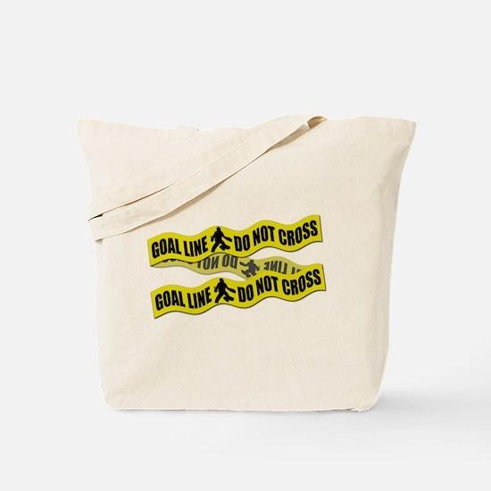Field Hockey Crime Tape Tote Bag