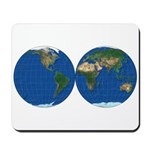 World Map Double Sphere: Mousepad