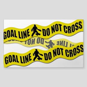 Field Hockey Crime Tape Sticker (Rectangle)