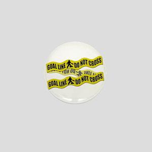Field Hockey Crime Tape Mini Button
