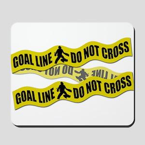 Field Hockey Crime Tape Mousepad