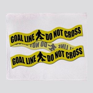Field Hockey Crime Tape Throw Blanket