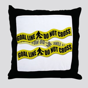 Field Hockey Crime Tape Throw Pillow