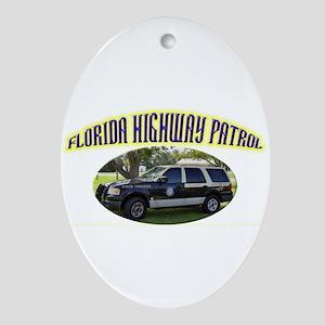 Florida Highway Patrol K9 Ornament (Oval)
