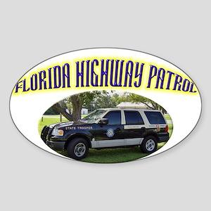 Florida Highway Patrol K9 Sticker (Oval)