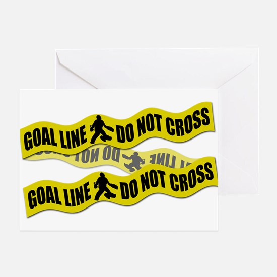 Field Hockey Crime Tape Greeting Card