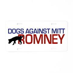 Dogs Against Romney Aluminum License Plate