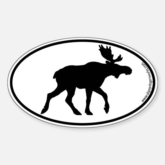 Moose SILHOUETTE Oval Decal