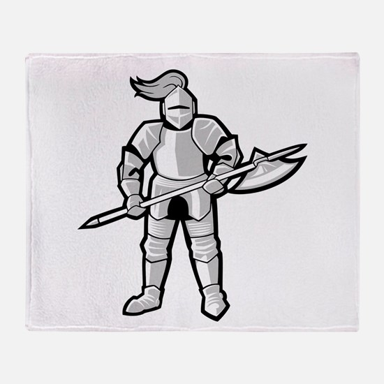 Statue of Armor Throw Blanket