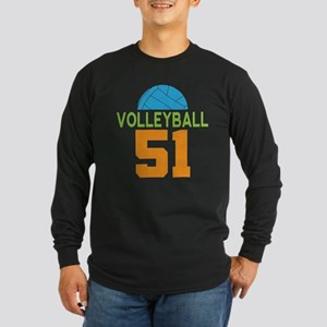 Volleyball Player Number 51 Long Sleeve T-Shirt