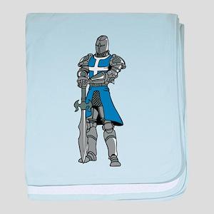 Blue Crusader baby blanket
