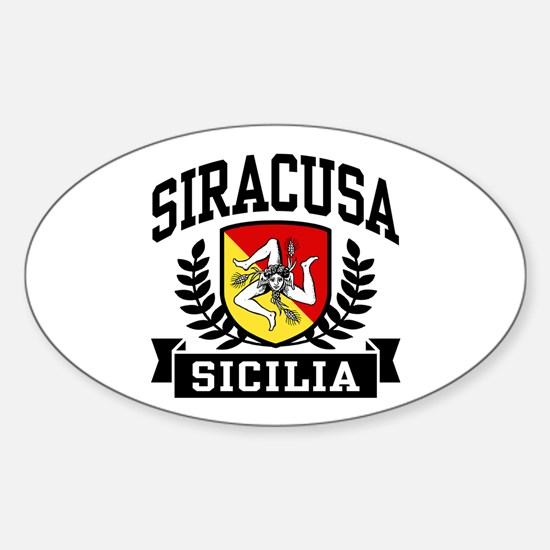 Siracusa Sicilia Sticker (Oval)