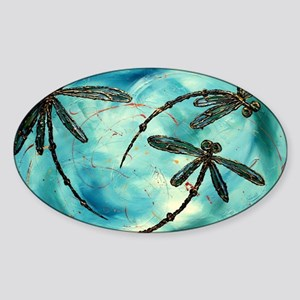 Dragonfly Cloud Sticker (Oval)