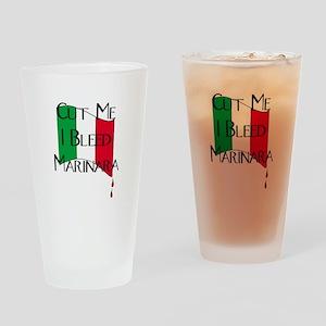 I Bleed Marinara Drinking Glass