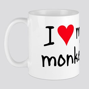 I LOVE MY Monkey Mug