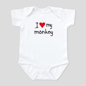 I LOVE MY Monkey Infant Bodysuit