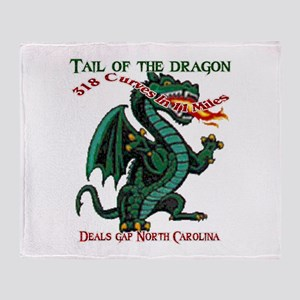 Tail Of The Dragon Throw Blanket