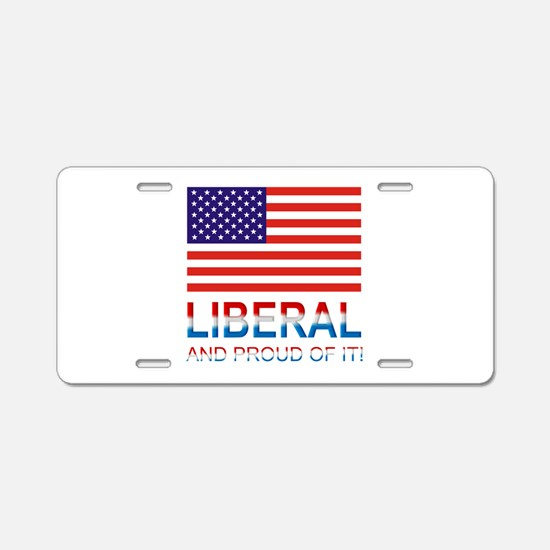 Liberal Aluminum License Plate