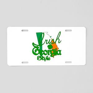 Irish in Georgia Aluminum License Plate