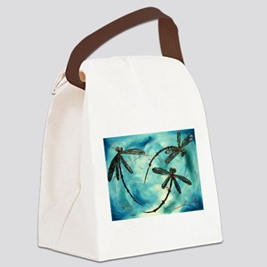 Dragonfly Cloud Canvas Lunch Bag