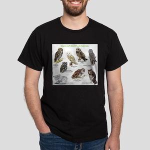 Owls of North America Dark T-Shirt