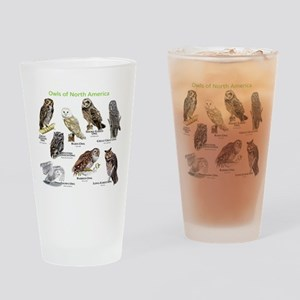 Owls of North America Drinking Glass