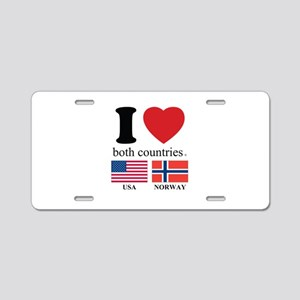 USA-NORWAY Aluminum License Plate
