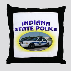 Indiana State Police Throw Pillow