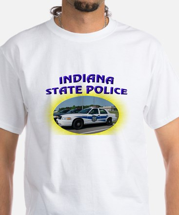 Indiana State Police White T-Shirt