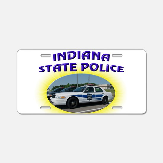 Indiana State Police Aluminum License Plate