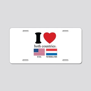 USA-NETHERLANDS Aluminum License Plate