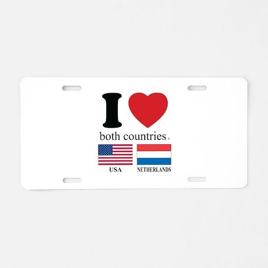 USA-NETHERLANDS Aluminum License Plate