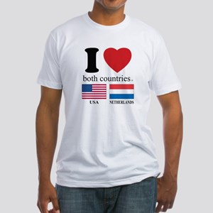 USA-NETHERLANDS Fitted T-Shirt