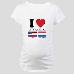 USA-NETHERLANDS Maternity T-Shirt