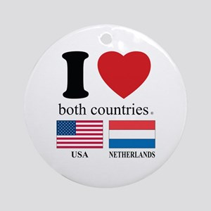 USA-NETHERLANDS Ornament (Round)