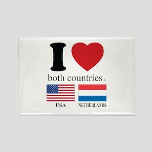 USA-NETHERLANDS Rectangle Magnet