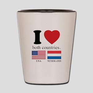 USA-NETHERLANDS Shot Glass