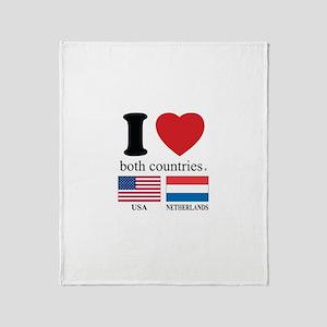 USA-NETHERLANDS Throw Blanket