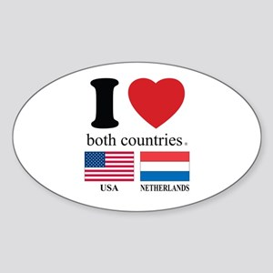 USA-NETHERLANDS Sticker (Oval)
