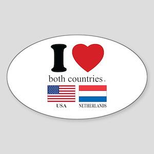 USA-NETHERLANDS Sticker (Oval)