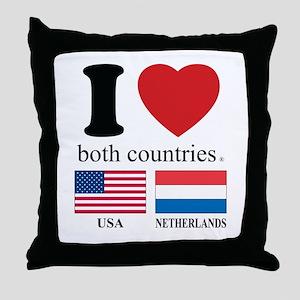 USA-NETHERLANDS Throw Pillow