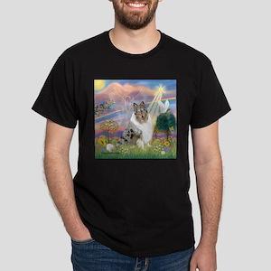 CloudAngel-Collie (B) Dark T-Shirt