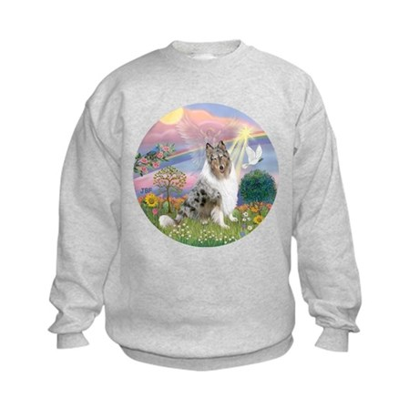 CloudAngel-Collie (B) Kids Sweatshirt