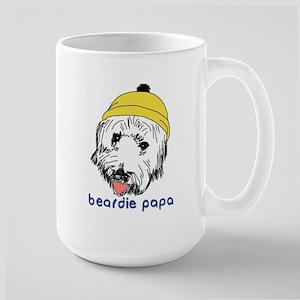Beardie Papa Large Mug