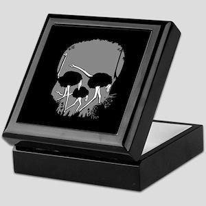 Forest Ostriches Skull Keepsake Box