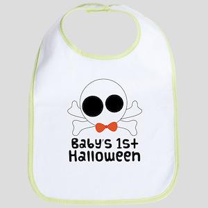 Baby's 1st Halloween Skull Bib